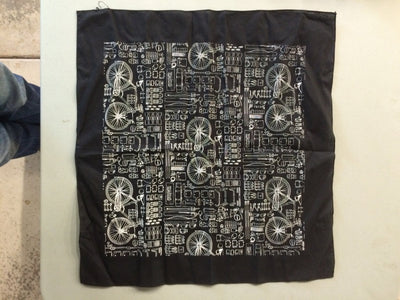 Walnut Studiolo AS-IS AS-IS SALE Bicycle Print Bandana Black / Small tear in hem