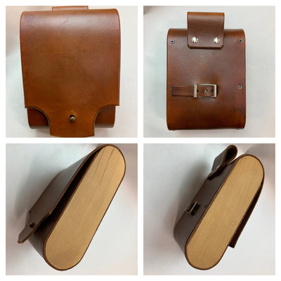 "AS-IS SALE Leather Bicycle Bag - ""Pocket Pannier"""