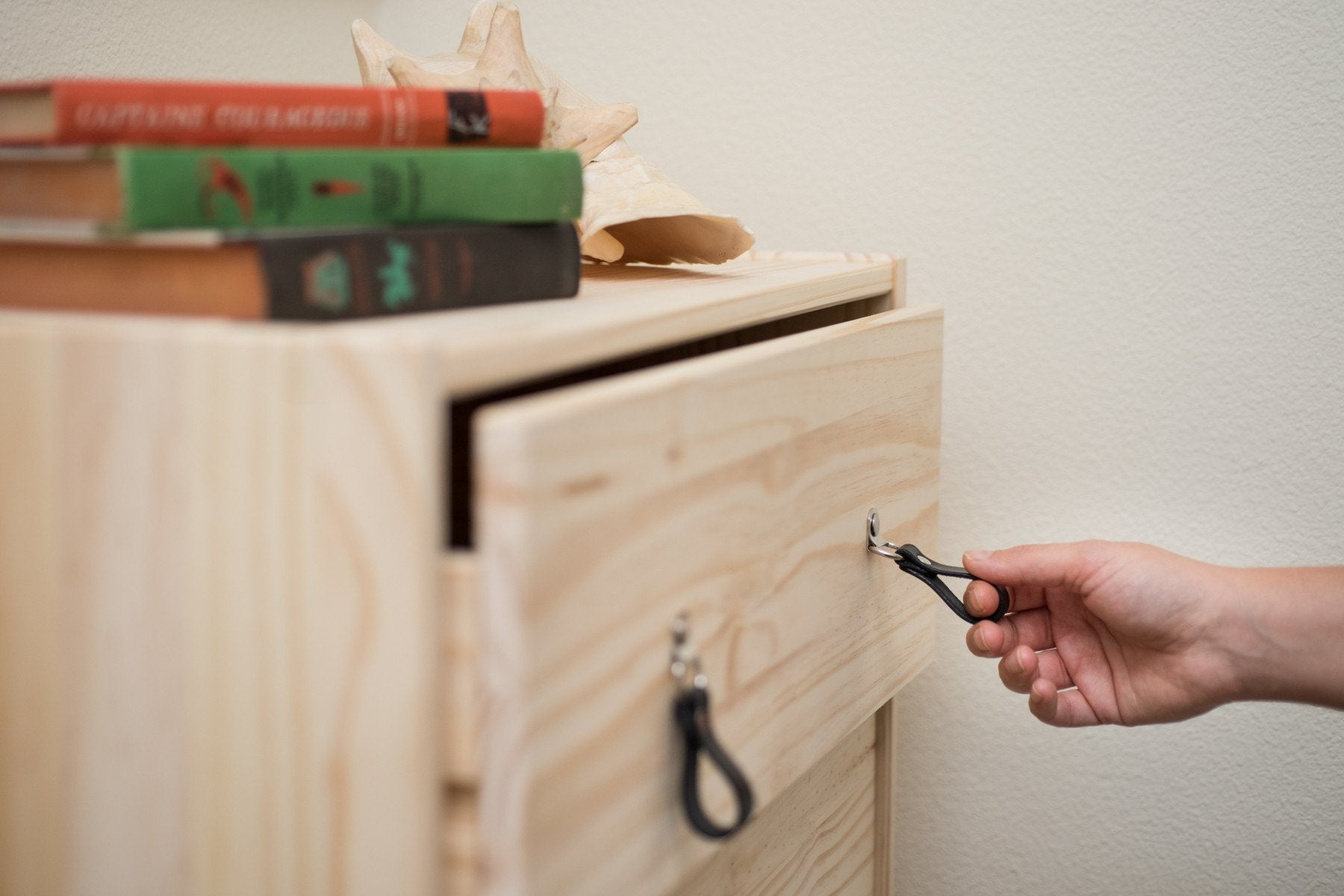 AS-IS SALE Leather Drawer Pull \