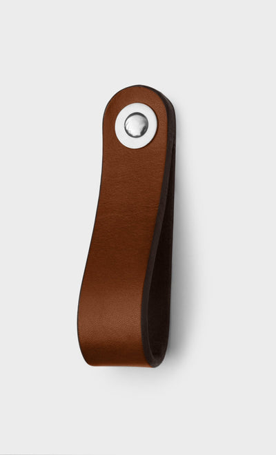 Walnut Studiolo AS-IS AS-IS SALE Leather Drawer Pull - The Hawthorne / Fremont
