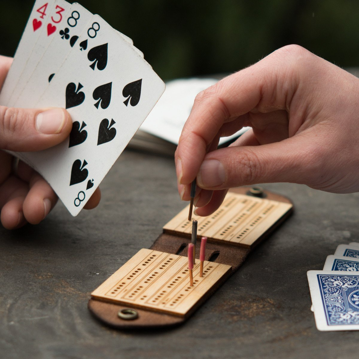 AS-IS SALE Travel Cribbage Board