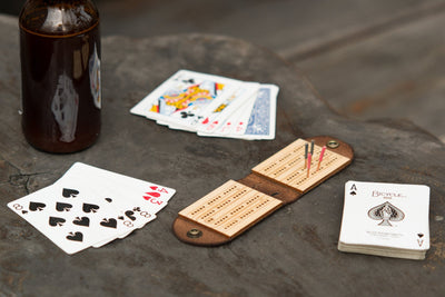 Walnut Studiolo AS-IS AS-IS SALE Travel Cribbage Board
