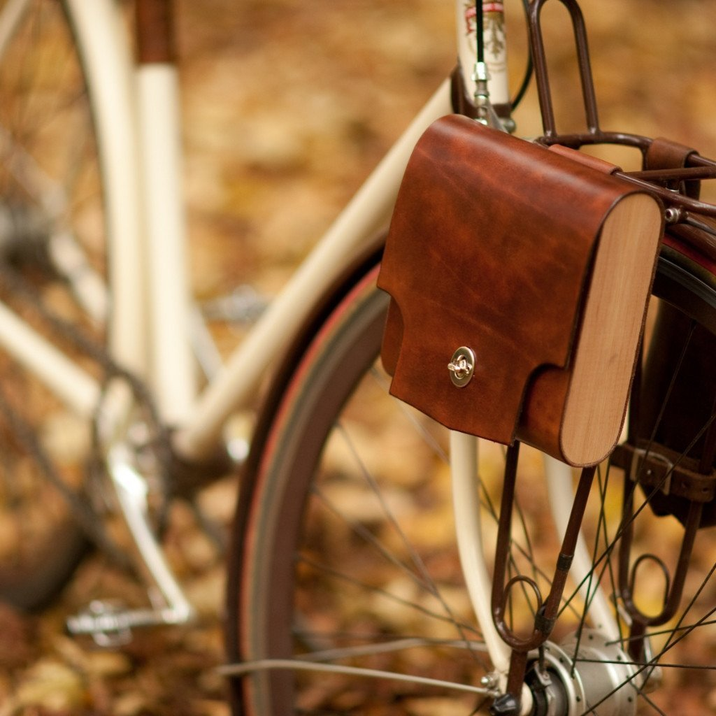 "Leather Bicycle Bag - ""Pocket Pannier"""