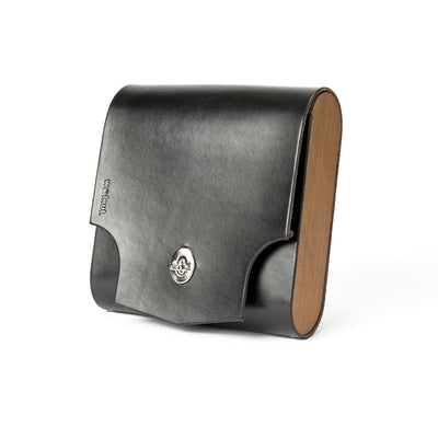 "Walnut Studiolo Bicycle Accessories Bicycle Leather Pannier Bag - The ""Pocket Pannier"" Black / Single"