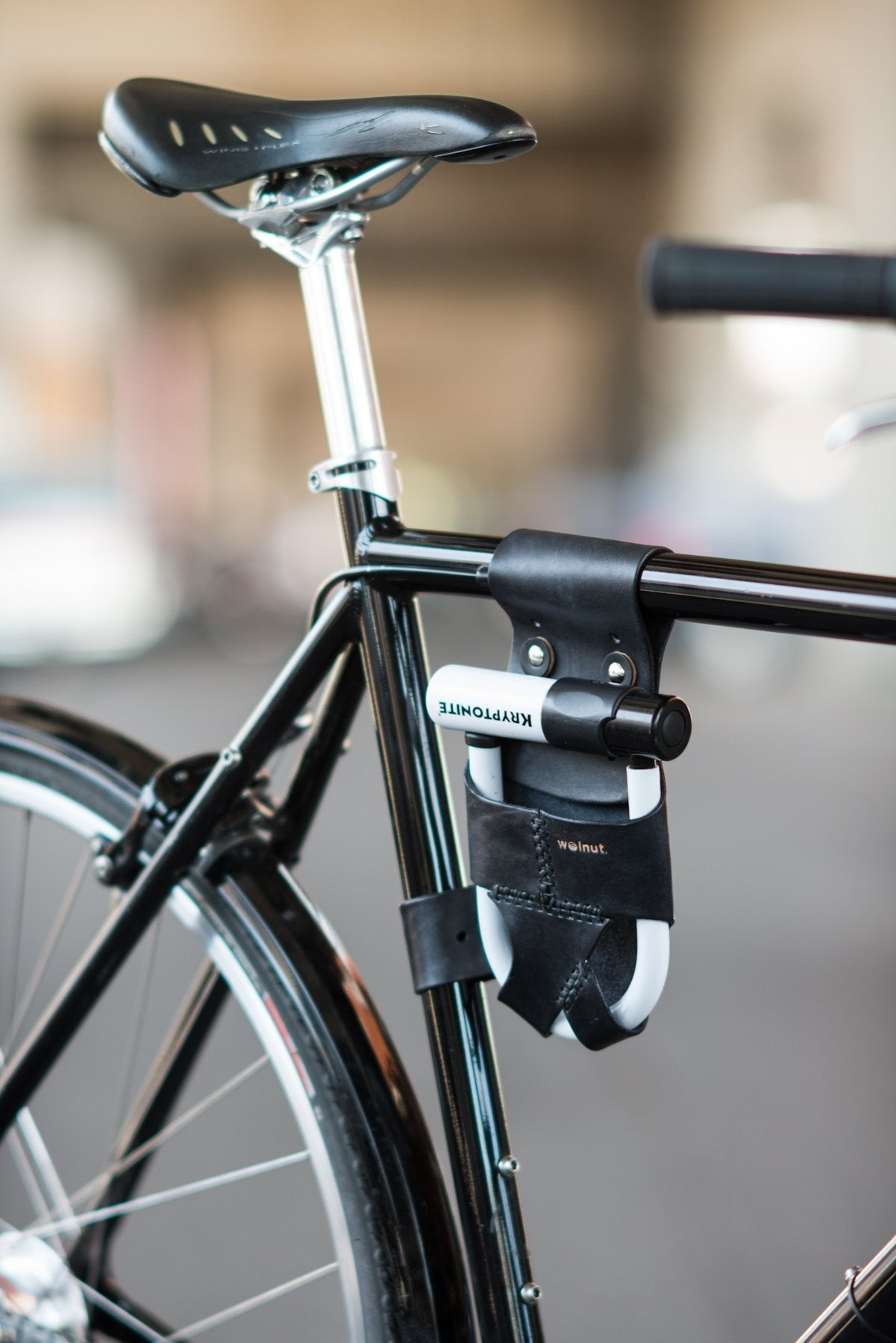 Cycle combination Lock with bike seatpost and bicycle frame mount