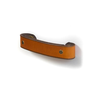 Walnut Studiolo Drawer Pulls AS-IS SALE Leather Handle - The Tilikum