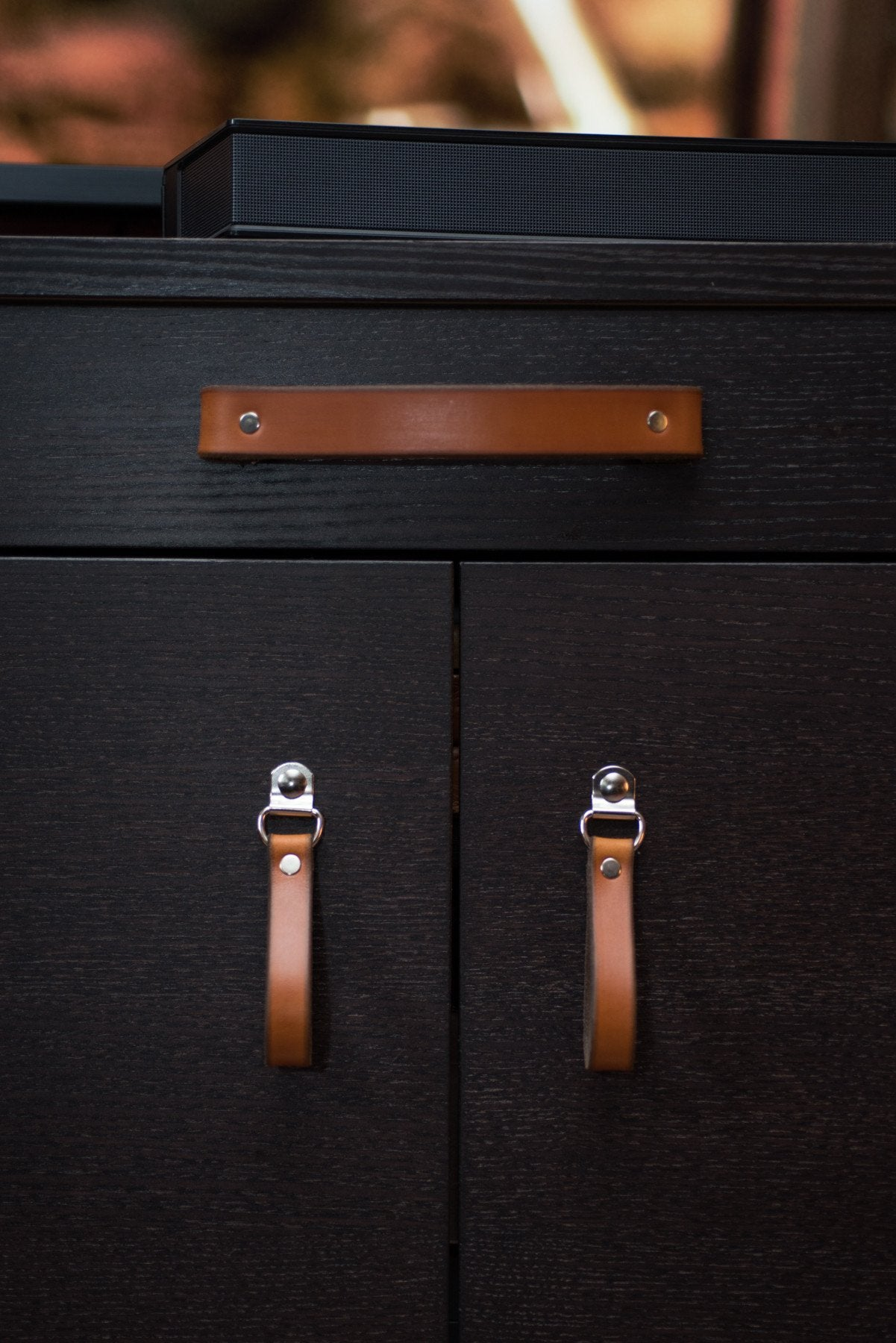Handcrafted Leather Drawer Pull \