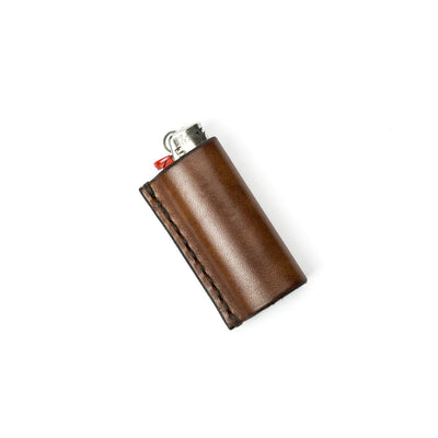 Walnut Studiolo Marijuana Collection Leather Lighter Case