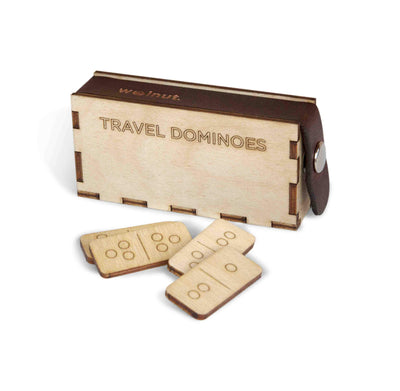 Walnut Studiolo Travel Games AS-IS SALE Travel Dominoes With Muslin Bag / Imperfect Set #1