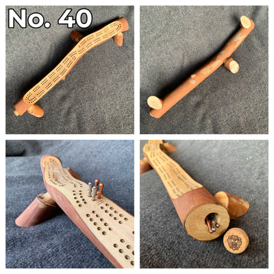 Natural Branch Wood Cribbage Boards