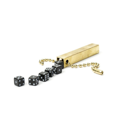Walnut Studiolo Travel Games Travel Dice Travel Dice / Black / Keychain