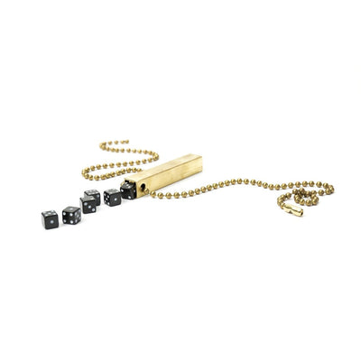 Walnut Studiolo Travel Games Travel Dice Travel Dice / Black / Necklace