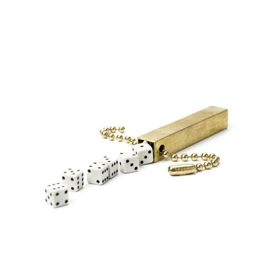 Walnut Studiolo Travel Games Travel Dice Travel Dice / White / Keychain