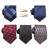 SIGNATURE COLLECTION IN GIFT BOX | FIVE HANDMADE ITALIAN FABRIC NECKTIES | TWO TIE BARS | HANDCRAFTED GIFT BOX - Debonair Luxury Neckties
