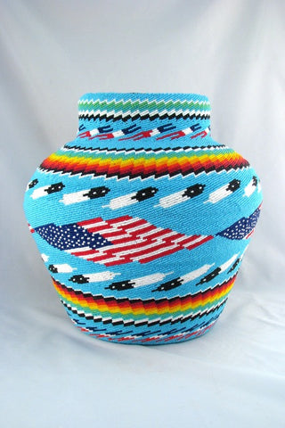 Beaded Navajo Basket