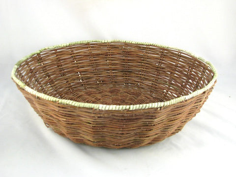 Hopi Wicker Peach Basket