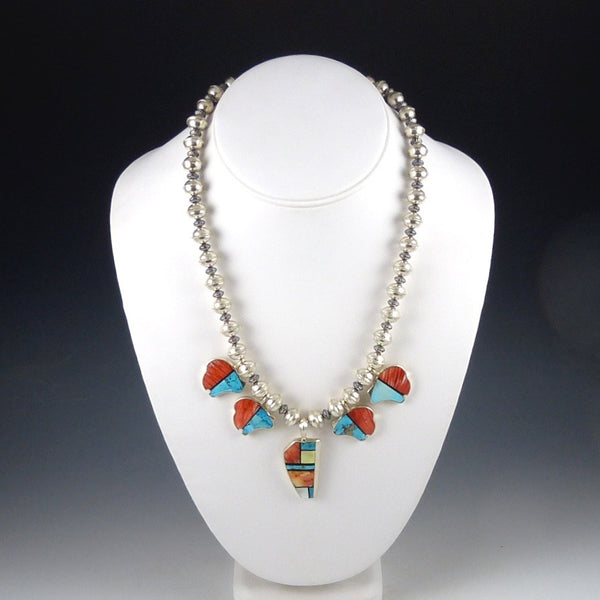 Multi-Stone Inlaid Necklace
