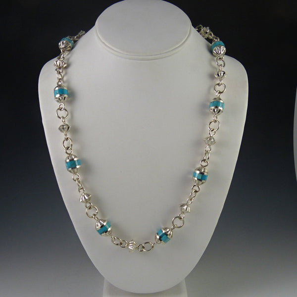 Turquoise Inlay Bead Necklace