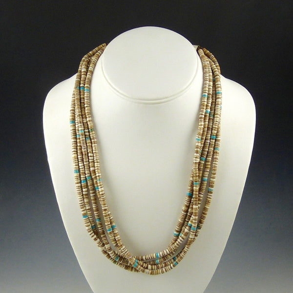 5 Strand Olive Shell Necklace