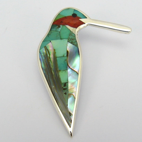 Inlay Hummingbird Pendant