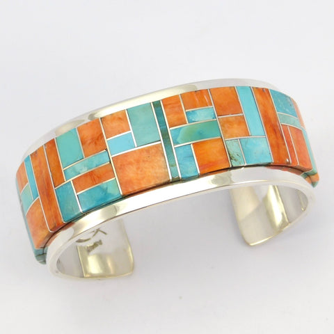 Turquoise and Spiny Oyster Cuff