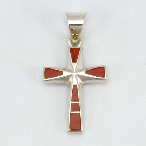 Coral Cross Pendant