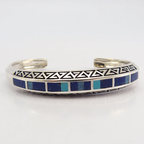 Turquoise and Lapis Cuff