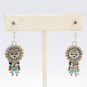 Turquoise Sunface Earrings