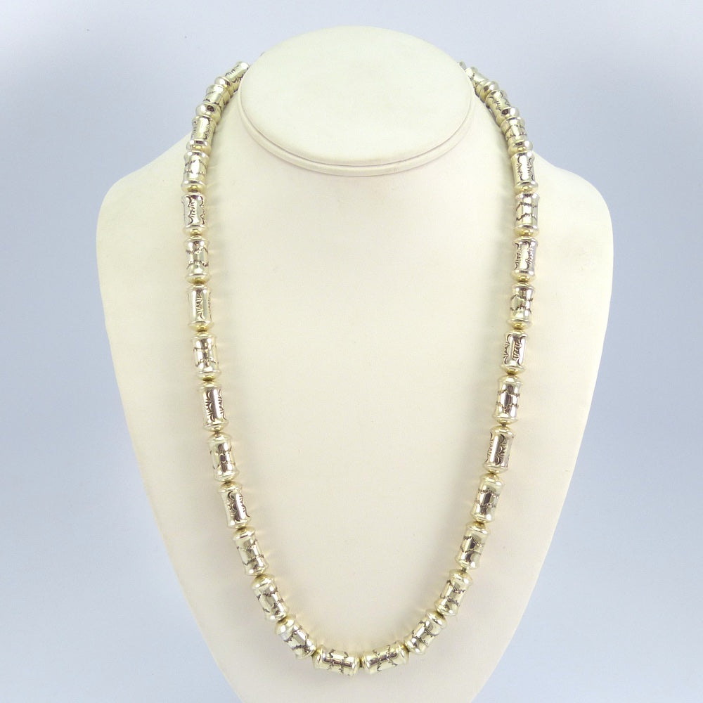 silver sterling long necklace bead ss cath products adorned inches