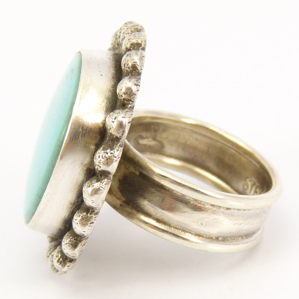 mark pin ring navajo native american by vintage wedding silver turquoise size sterling mens makers natural grams rings