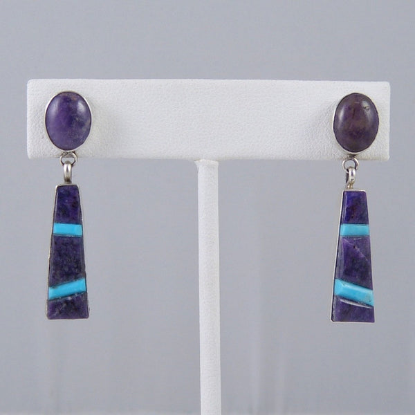 Sugilite and Turquoise Earrings
