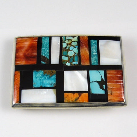 Multi-Stone Inlay Buckle