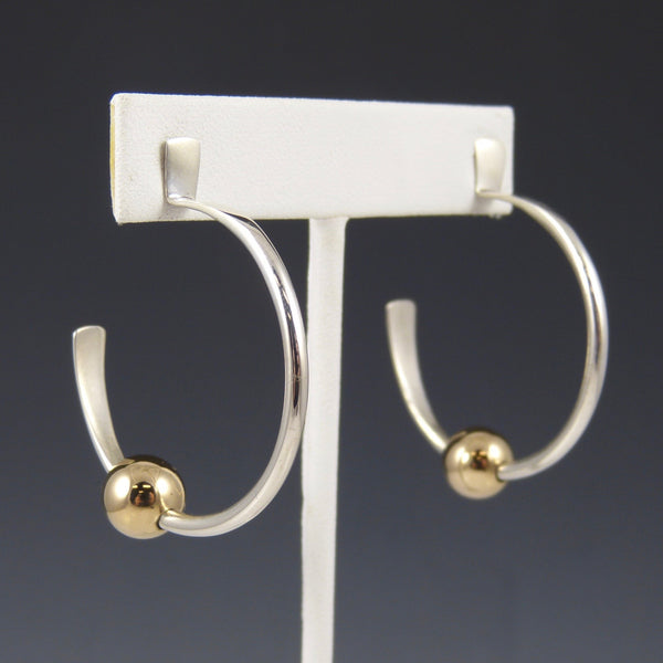 Silver and Gold Hoop Earrings