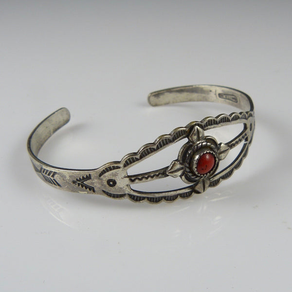 Coral Fred Harvey Cuff