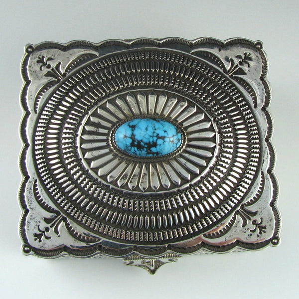 Silver Box with Turquoise