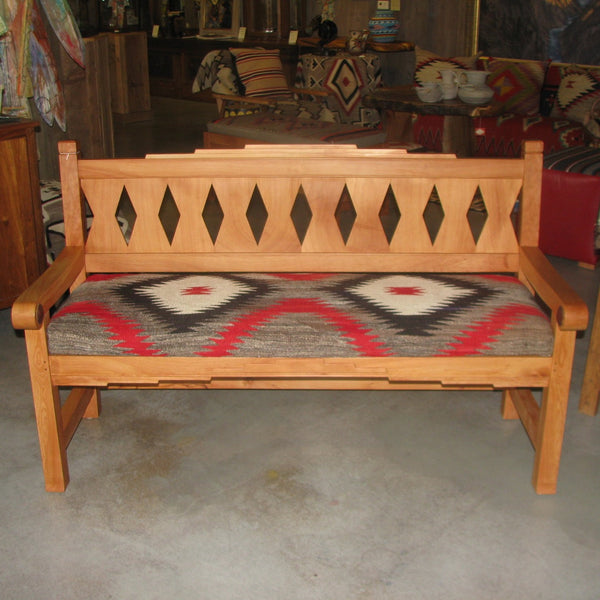 Juniper Bench with 1930 Navajo Rug