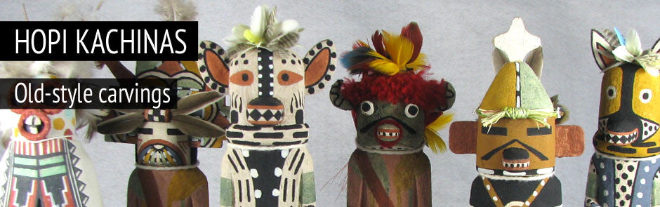 Hopi Kachinas - Old-style Dolls