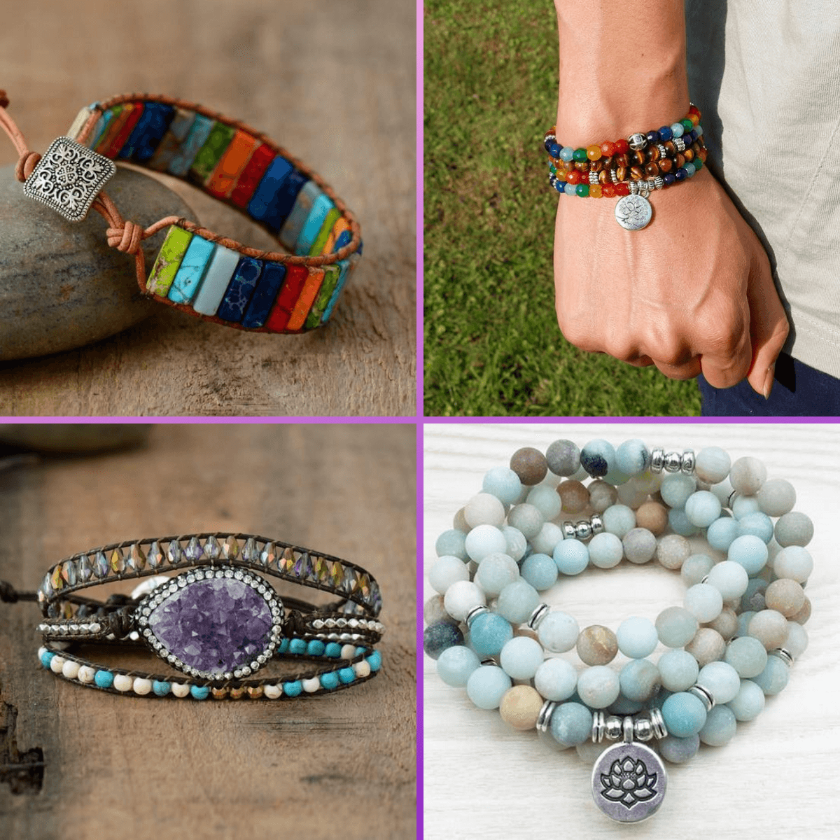 0 - (4 Bracelets)The Happiness bundle! (handmade) buy handmade bracelet