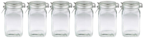 055 Glass Jar with Seal and Lid Clear 1.25Litres_x6a