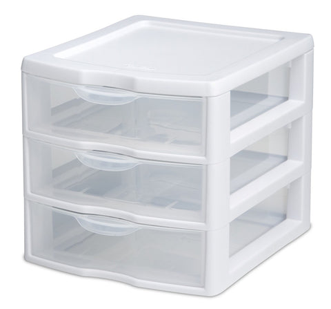 Sterilite 3 Drawer Organiser Mini