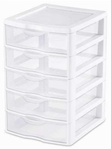 Sterilite 5 drawer unit small