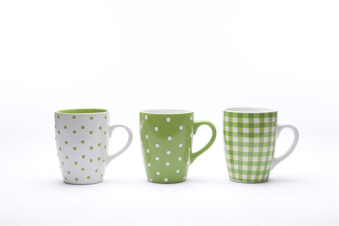 Coffee Mugs Green -Set of 6