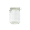 Glass Jar Square Clip Top Lid 750ml - 6 Pack