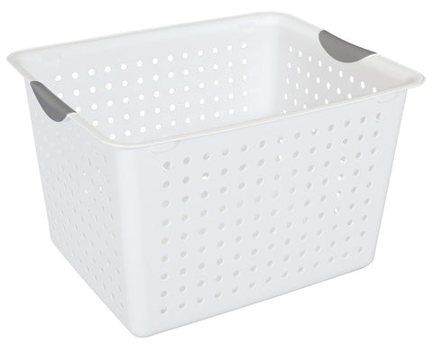 Storage Basket Deep White