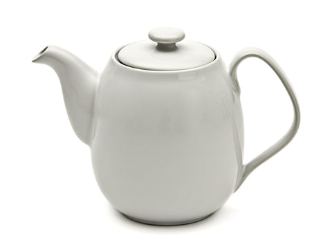 Teapot with Infuser Porcelain White