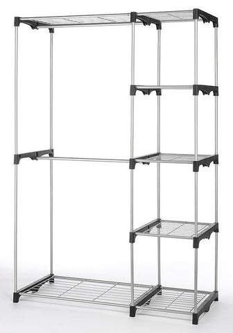Whitmor Large Wardrobe Clothes Rack With Shelves