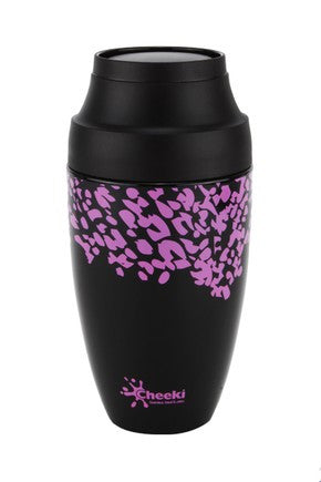 Cheeki Reuseable Coffee Mug 355ml - Leopard