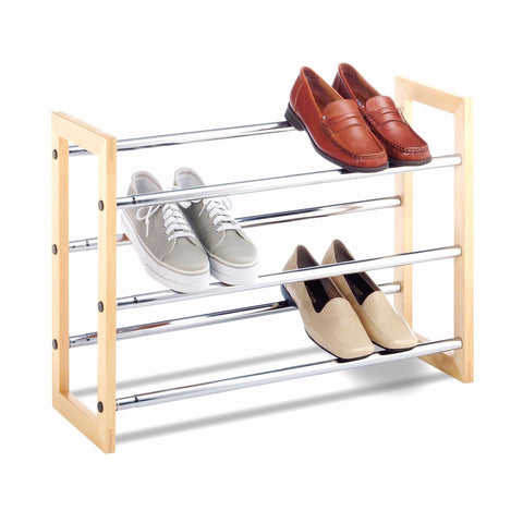 Whitmor Wooden Expanding Shoe Rack