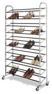 Whitmor Wheeling Shoe Tower