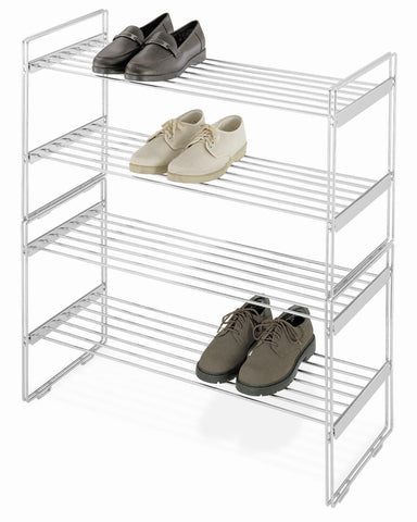 Whitmor Chrome Shoe Rack Stacking 2 Tier